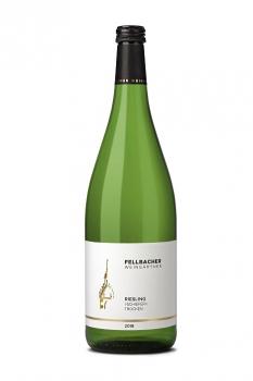 Fellbacher Weingärtner Riesling >Schiefer< QbA trocken 1,0 Liter (Glas/Mehrweg)