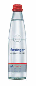 Ensinger Gourmet Bio-Mineralwasser Classic 24 x 0,25 Liter (Glas/Mehrweg)