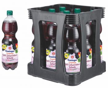 Ensinger Direktsaft Apfel-Johannisbeer-Schorle 9 x 1 Liter (PET/Mehrweg)