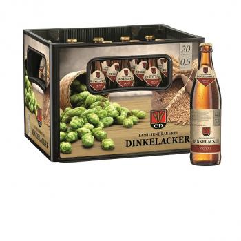 Dinkelacker Privat 20 x 0,5 Liter (Glas/Mehrweg)