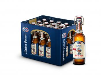 Hacker Pschorr Münchner Hell Alkoholfrei 20 x 0,5 Liter (Glas/Mehrweg)