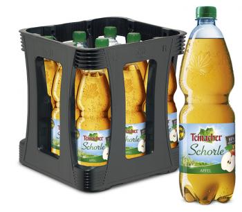 Teinacher Direktsaftschorle Apfel 9 x 1,0 Liter (PET/Mehrweg)