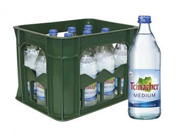 Teinacher Medium 12 x 0,5 Liter (Glas/Mehrweg)