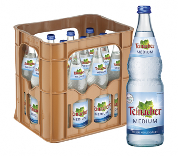 Teinacher Medium 12 x 0,7 Liter (Glas/Mehrweg)
