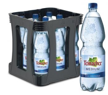 Teinacher Medium 9 x 1,0 Liter (PET/Mehrweg)