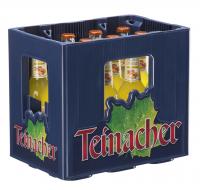 Teinacher Genuss-Limonade Mango-Maracuja-Orange 12 x 0,33 Liter (Glas/Mehrweg)