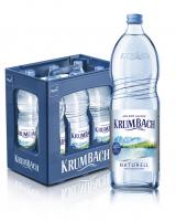 Krumbach Naturell 6 x 1,0 Liter (Glas/Mehrweg)